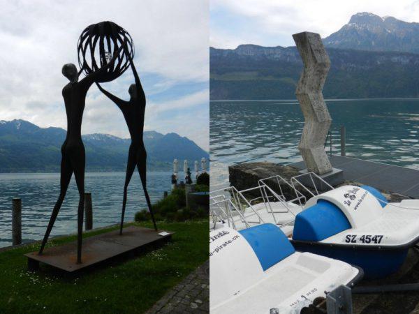 """Mit """"Mondo Chioia"""" von Guido Caminada begannen 2002 Gersaus jährliche Skulpturenausstellungen."""