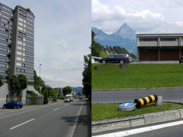 Das 1975 erbaute Hochhaus Schiller A in Brunnen ist das höchste Wohnhaus im Kanton Schwyz.