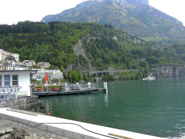 Da am Etappenziel Brunnen das Dampfschiff Uri heranrauschte, entfiel die Besichtigung.